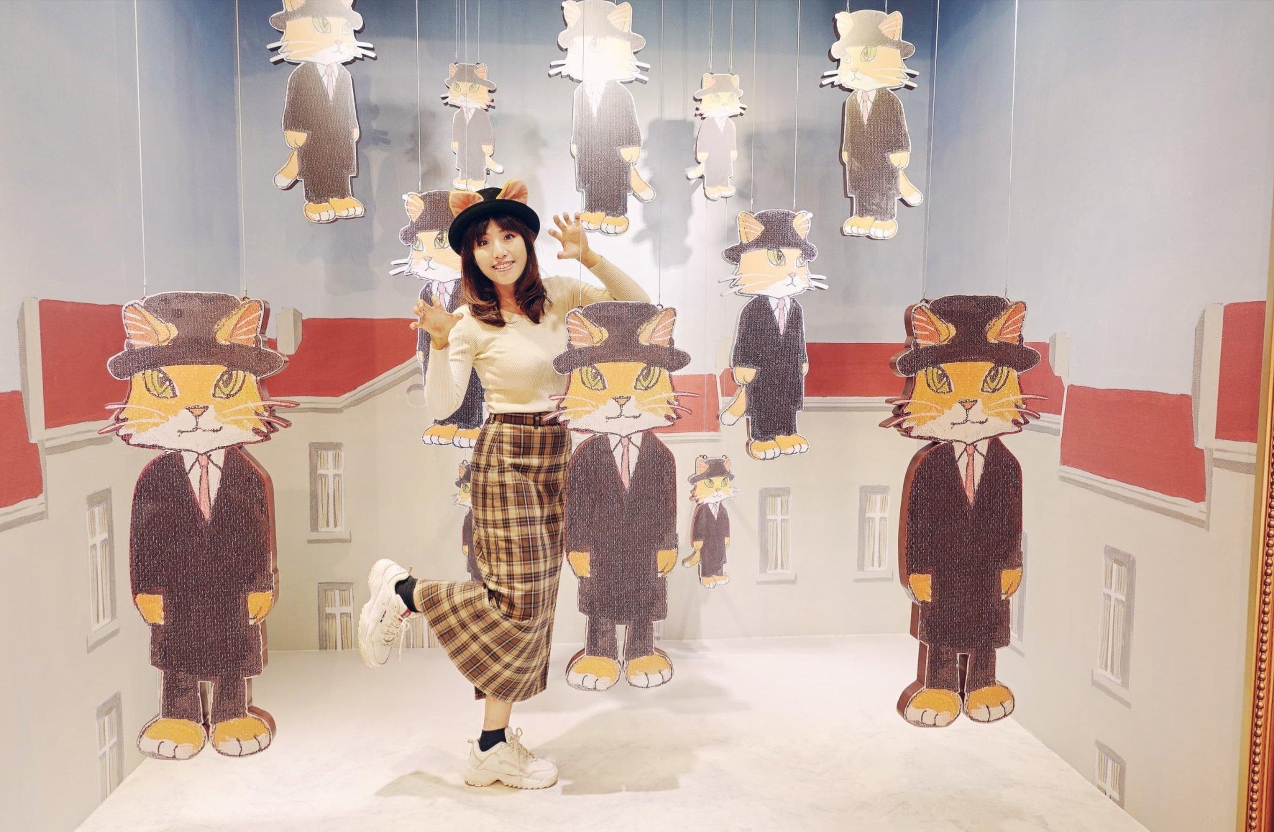 貓迷們可跳進畫框內,隱身為 《戈爾孔達貓》的「貓」子之一。