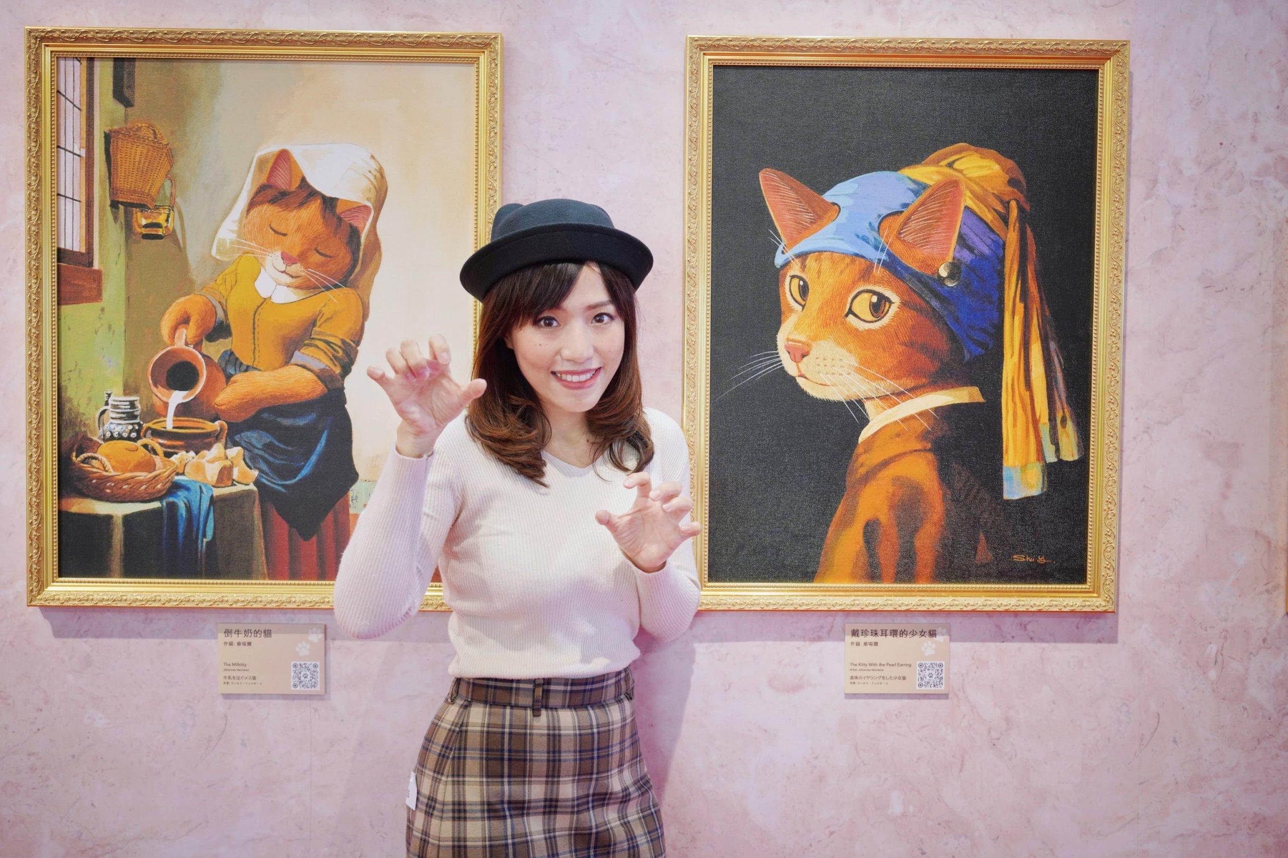 北角匯一期《貓視覺藝廊》,可盡情遊走於不同時代的喵星球藝術史,一次過膜拜數十幅複製世界名畫!