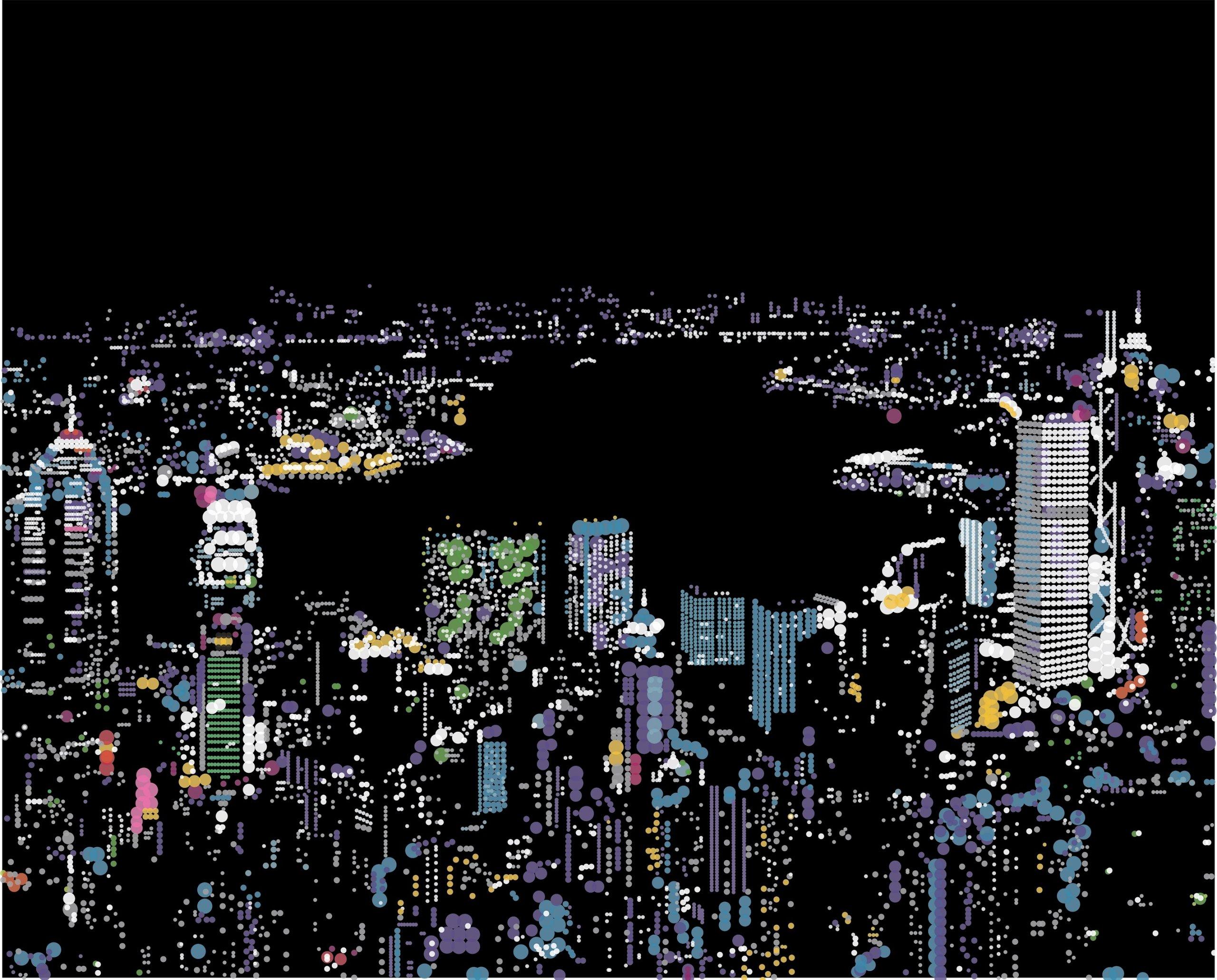 香港太平山著名夜景圓貼紙畫,效果唯美。