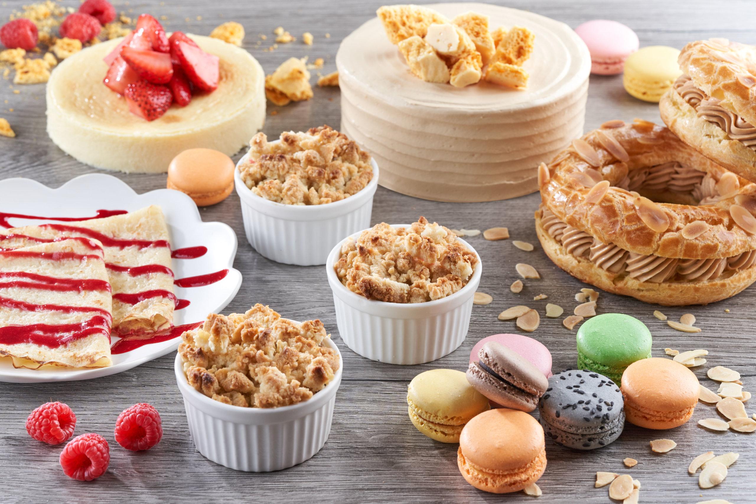 這趟歐陸之旅,除了德國經典甜品黑森林蛋糕及德國芝士餅外,法國甜品則有巴黎圈,每口均有豐富層次。