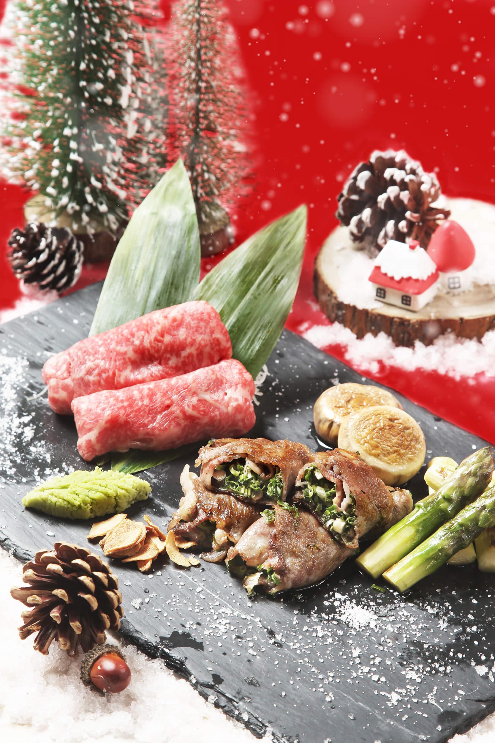 以日本宮崎A5和牛輕煎,豐盈肉汁令人難忘。