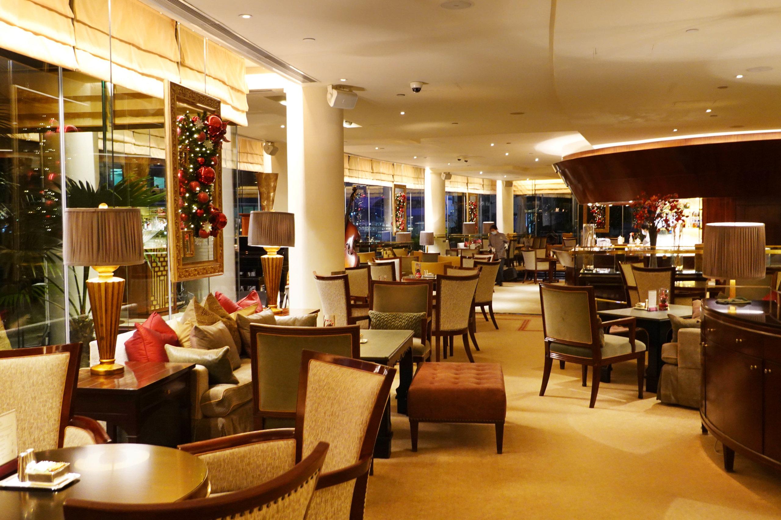 酒店位於金鐘,用餐環境舒適。