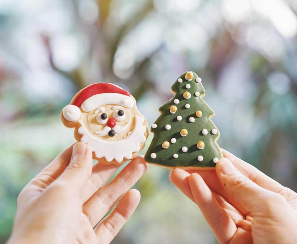 精美嘅聖誕老人曲奇、聖誕樹曲奇,靚到唔捨得食!