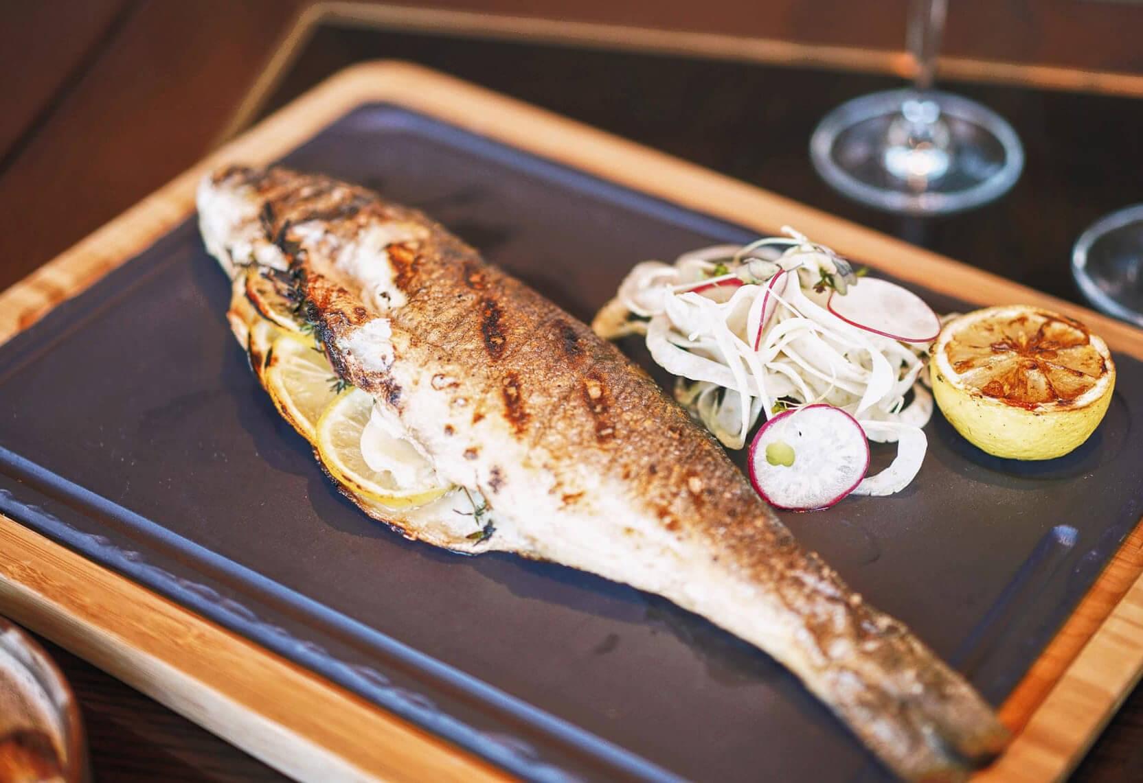 海新嘅烤鱸魚,為唔食牛嘅朋友提供更多選擇!