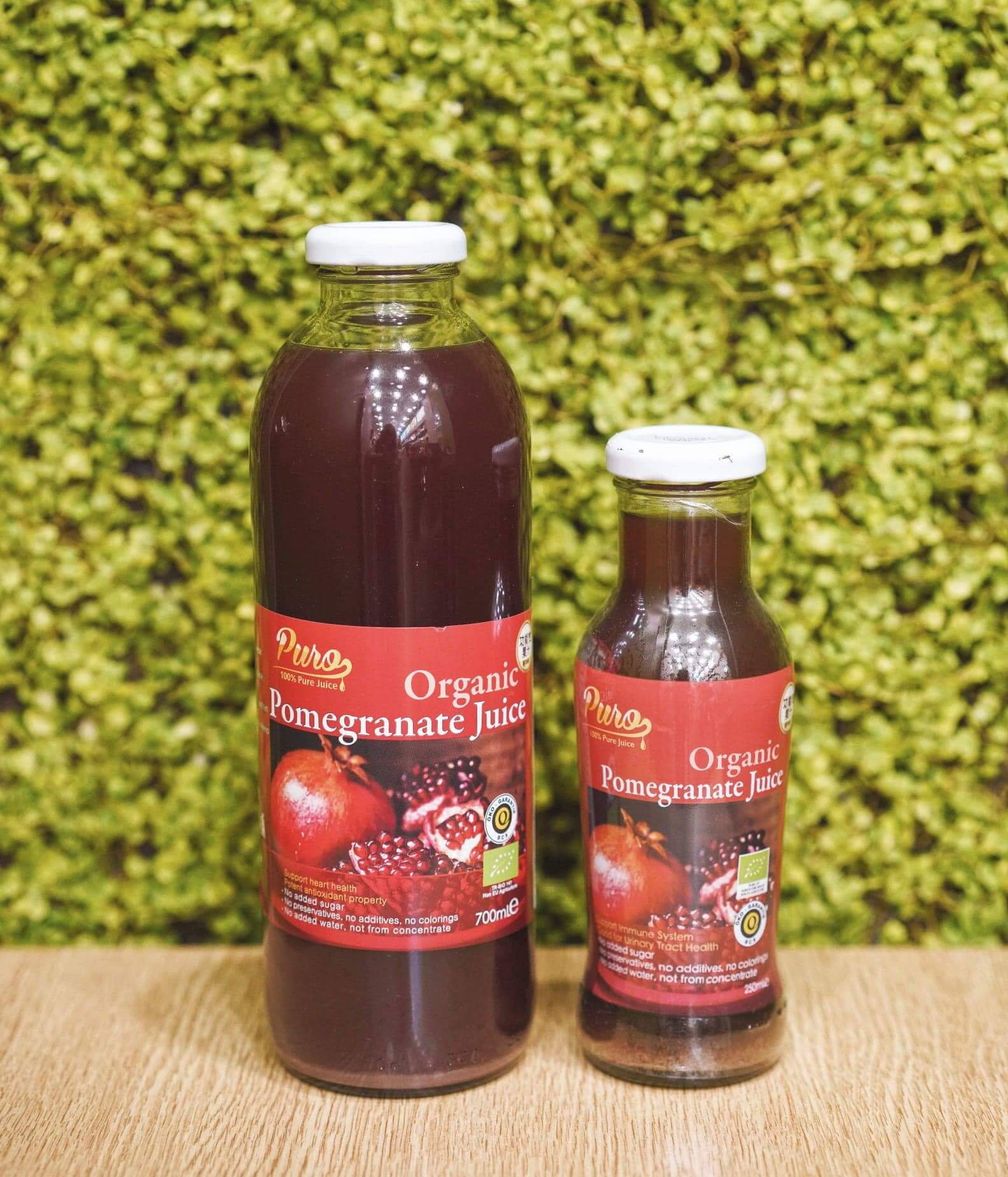 Pure 100% 有機純紅石榴汁 700ml HK$69(買2件或以上88折)
