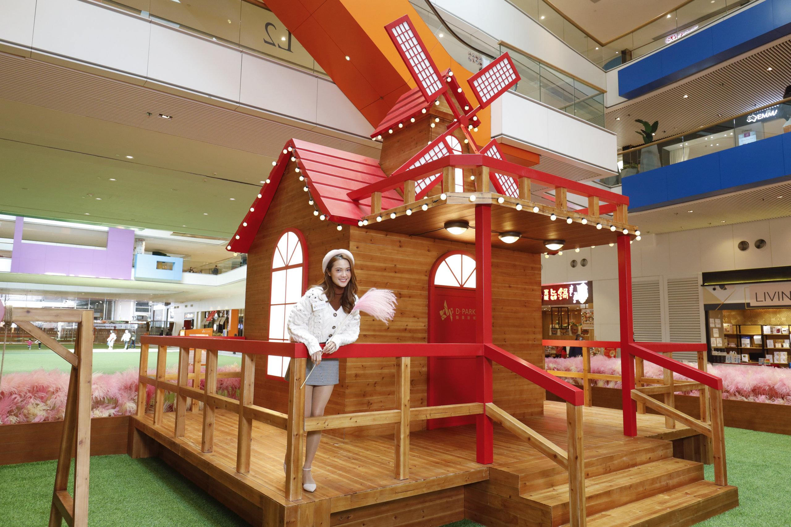 紅色屋頂木屋,好有童話氣息!