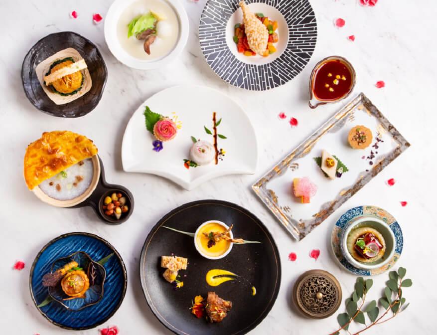「愛玲宴」共設九道菜,根據張愛玲嘅作品與其一生為創作藍本,再以現代粵式烹調手法重新演繹。