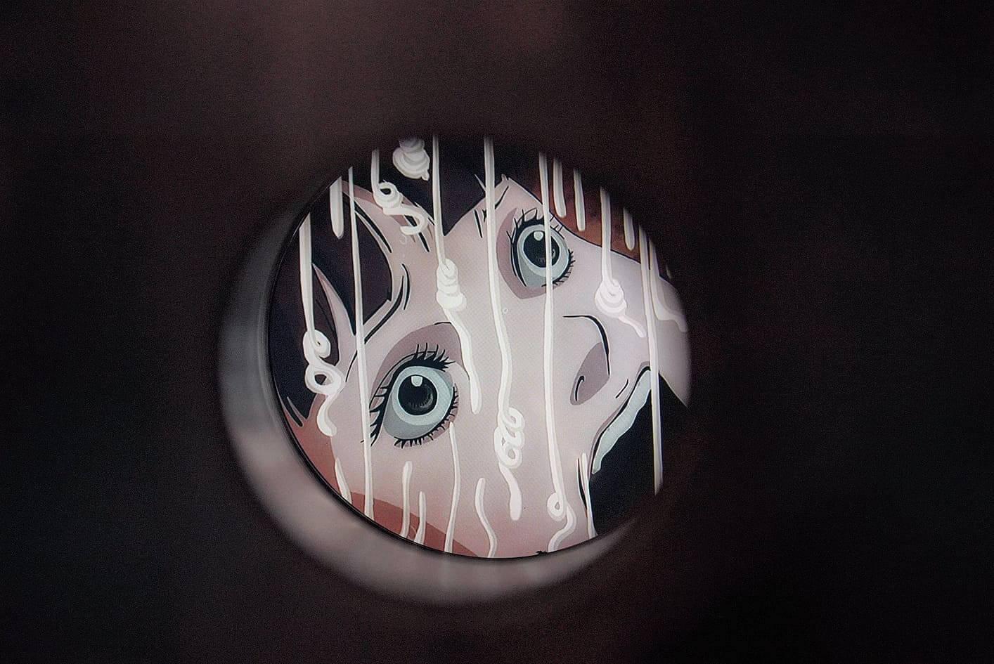 洞內播放著伊藤老師嘅不同動畫作品。