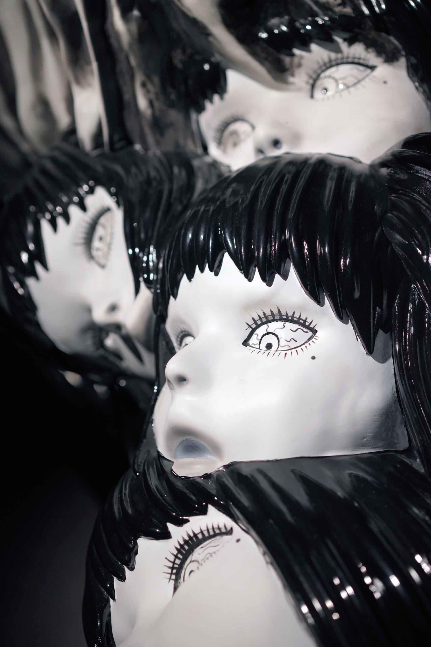 怪物身上每個富江,無論表情或眼神,均要獲得伊藤老師首肯,才做得出來。