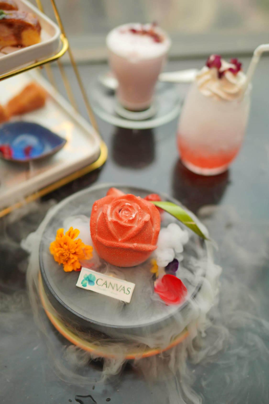 紅桑子荔枝玫瑰慕絲蛋糕,單係造型已成功取悅人心!