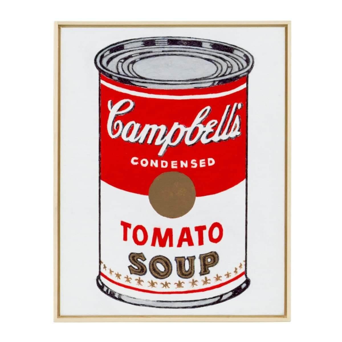 Andy Warhol 以日常生活為靈感,創作經典金寶湯Pop Art。