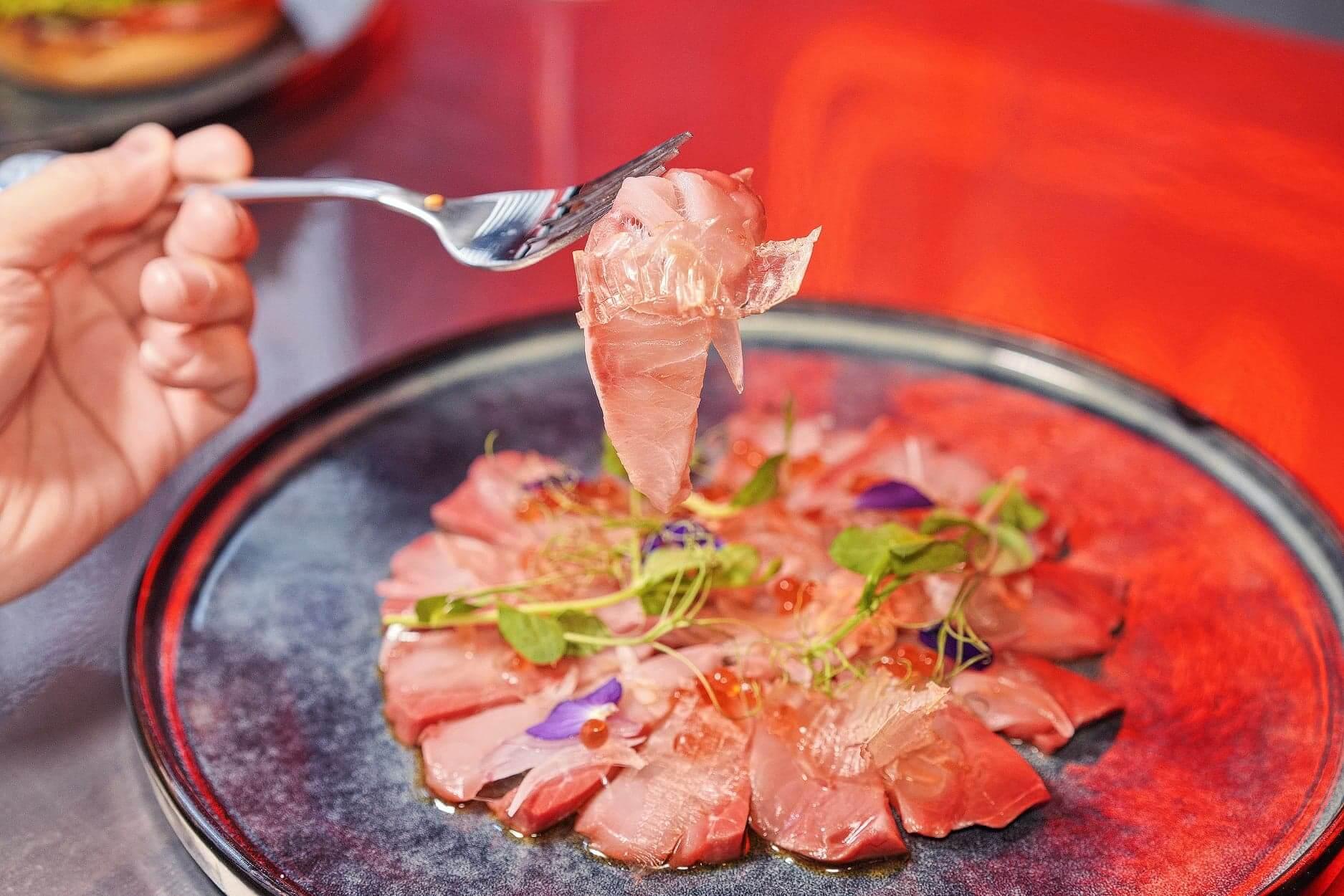 油甘魚好鮮美,加上陣陣蘋果木香,非常惹味!