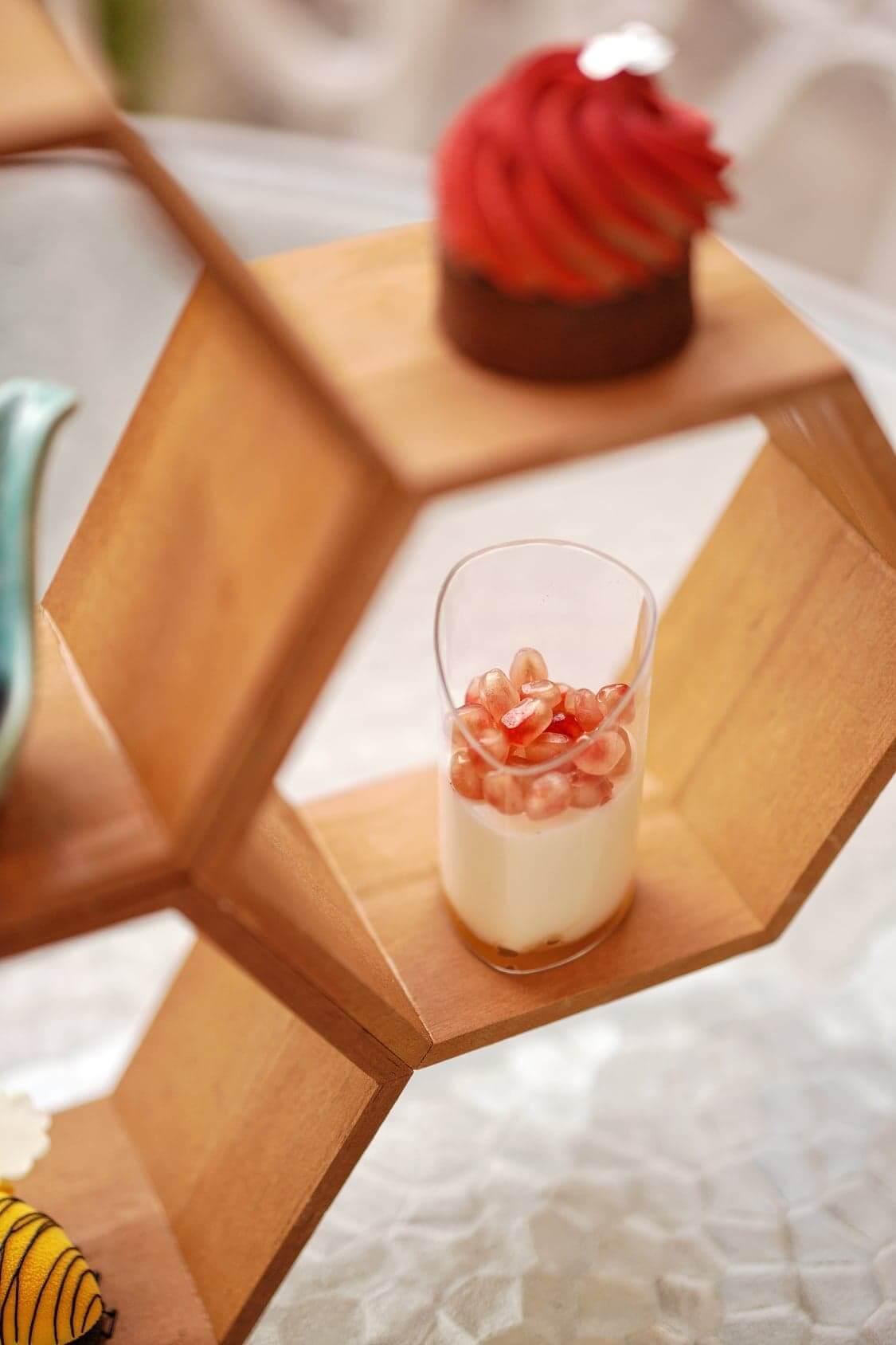 紅石榴乳酪配蜜糖