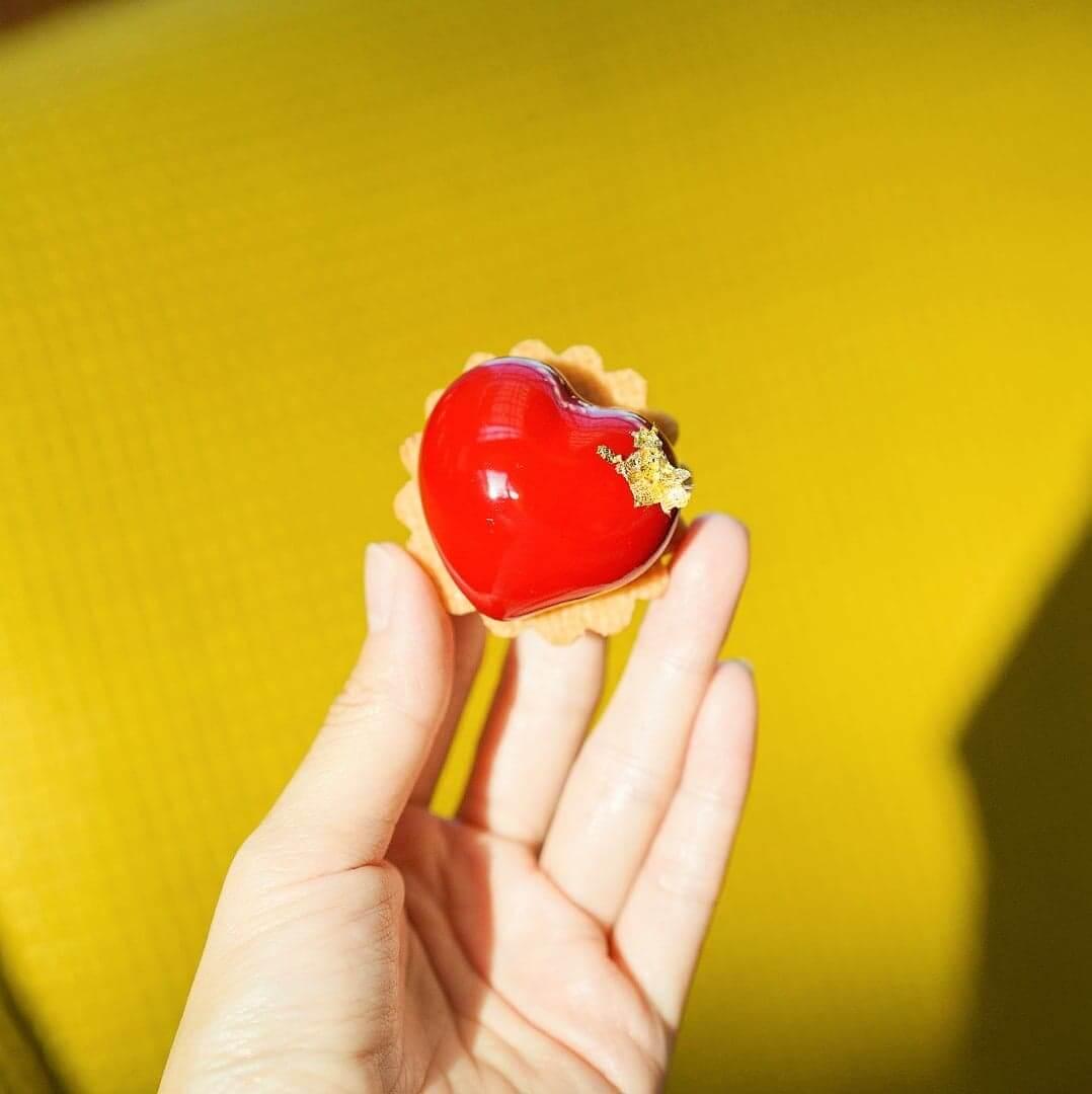 雜莓心型朱古力