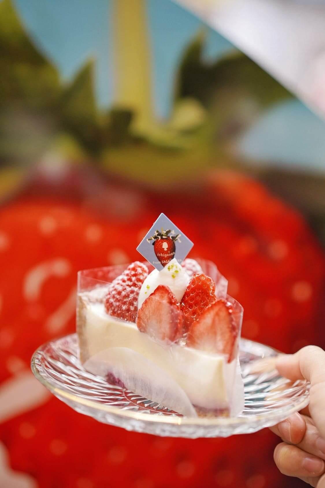 松岡先生特別為「佐賀莓小姐」做的蛋糕款式,以微酸芝士蛋糕,突顯「佐賀莓小姐」的香甜滋味。