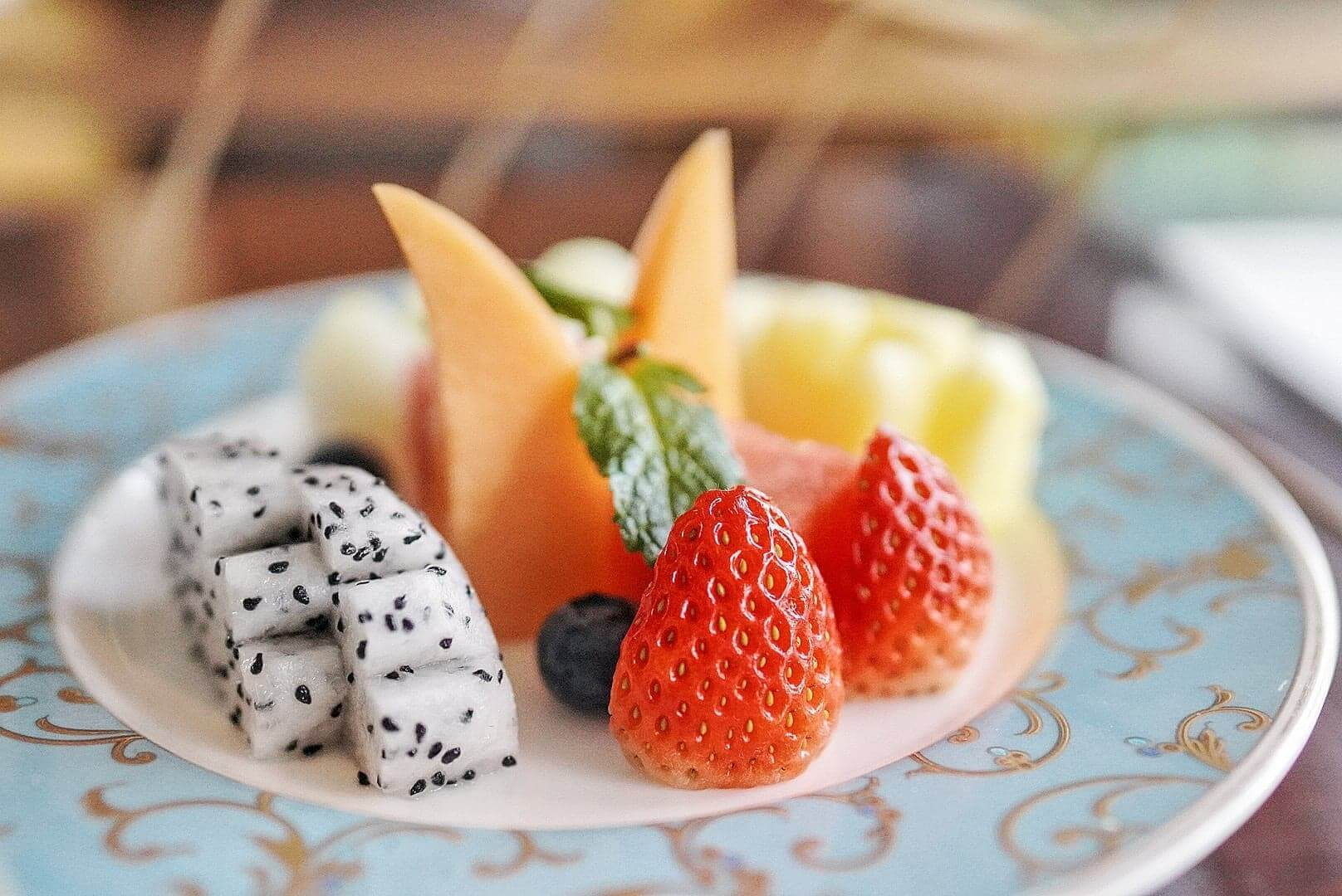 多款水果,食味道濃重嘅美點時正好解膩。