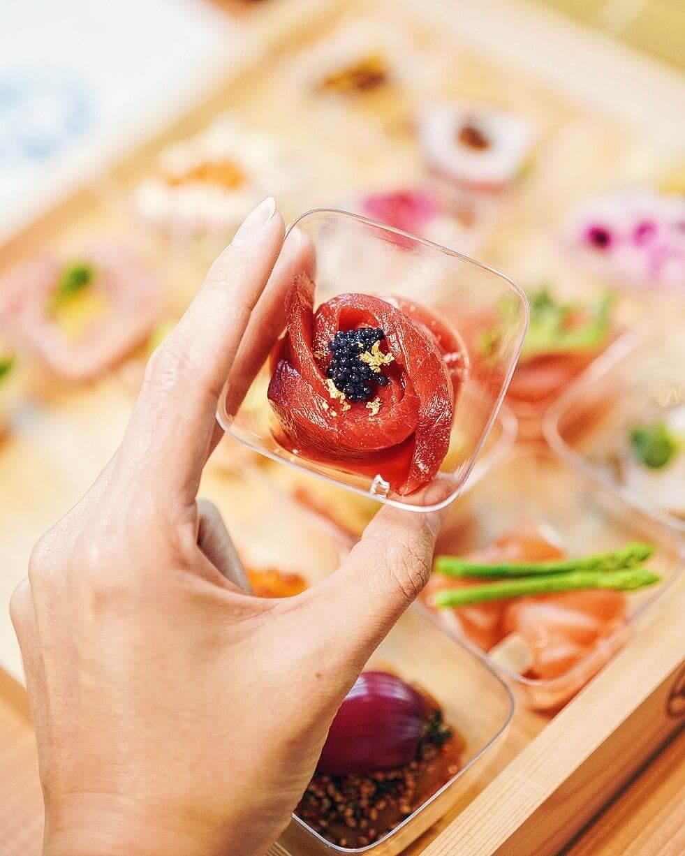 黑魚子赤身柚子酢味噌