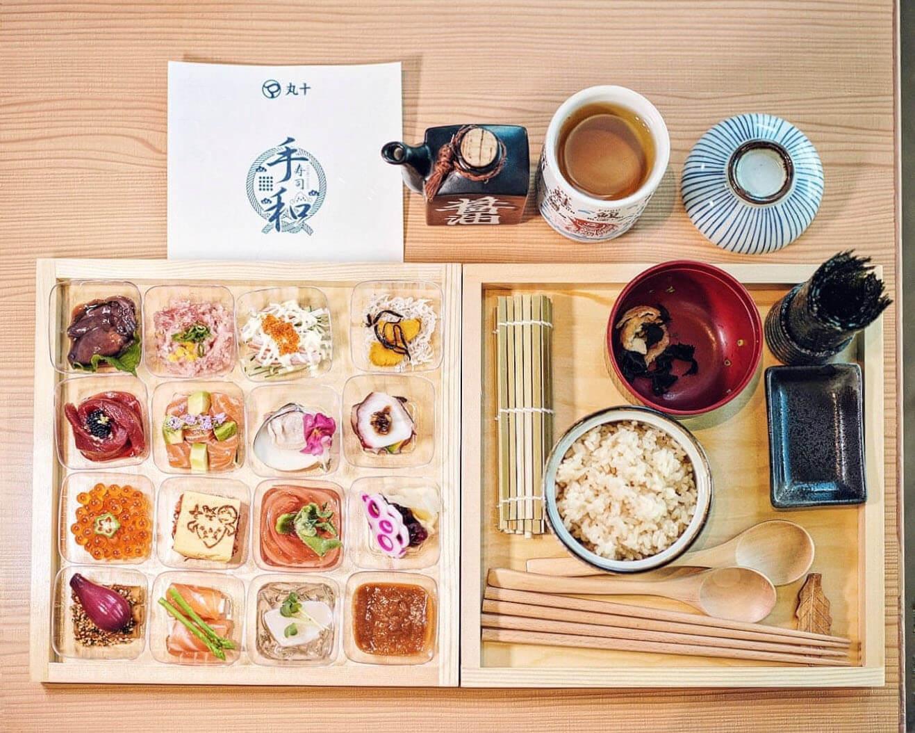 丸十最新手和壽司盒,有16款和食,比大家DIY壽司!