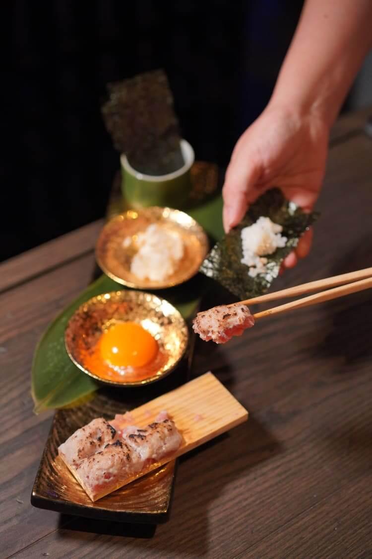 火炙蔥吞拿魚腩 HK$108 可以DIY,按個人喜好調整食材份量,包好即食!