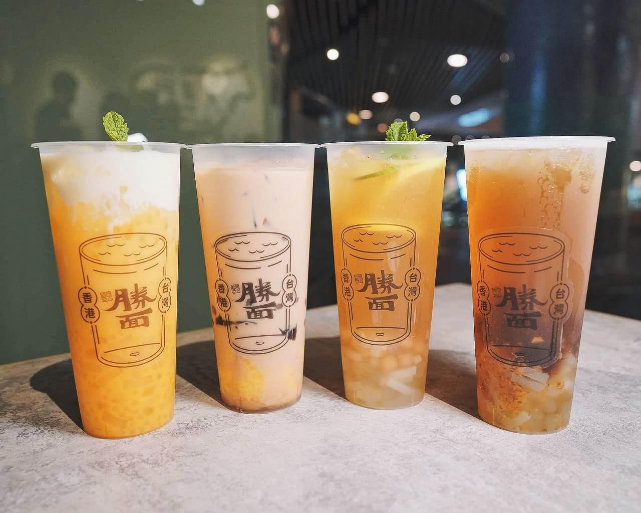 4款茶飲包括爆粒檸檬3姊妹、奶茶3兄弟、芒芒甘露及桂花嬤嬤。