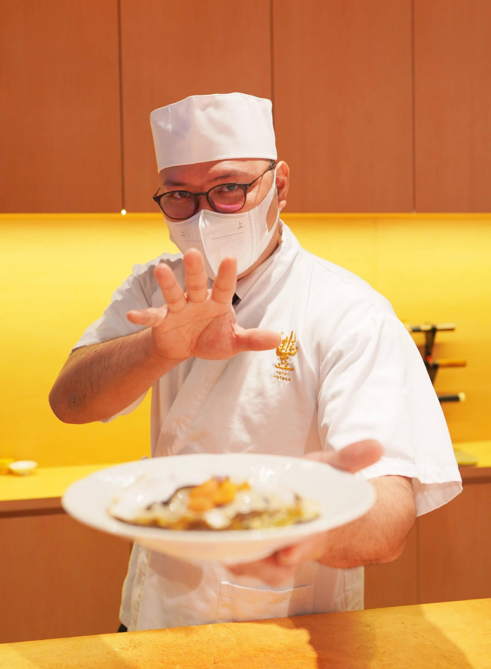 豐Sushi Yutaka主廚為 Michael Chan,入行19年造詣深厚,為御廚松戶利雄先生入室弟子。