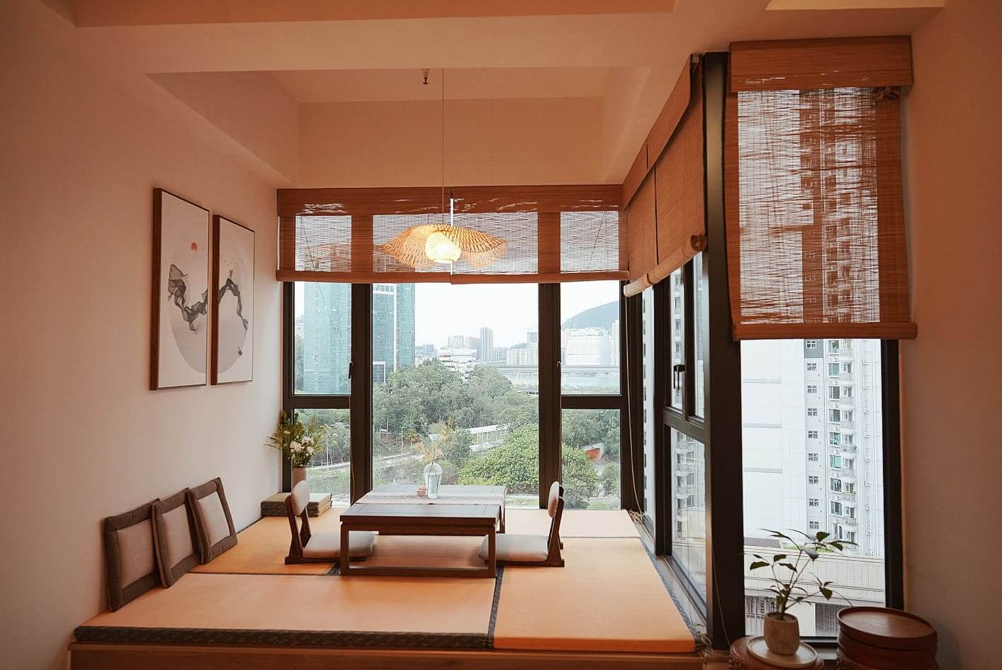落地大窗,日式榻榻米,感覺開揚又舒適。
